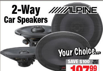 Alpine 2-Way Car Speakers