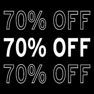 Up to 70% off Closeout Styles