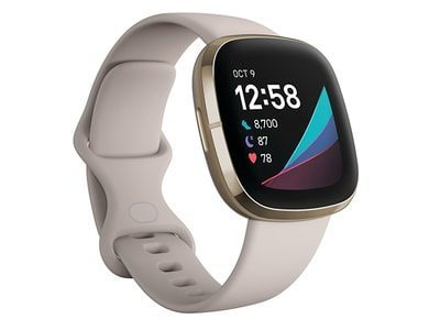 Fitbit Sense Soft Gold Stainless Steel With Lunar White Band